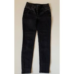 BLUE SPICE Faded Black High Rise Skinny Jeans